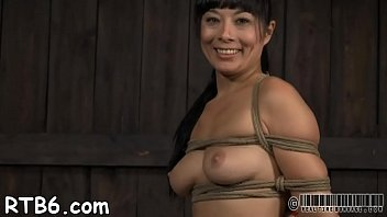 hogtied bound rubber in Beautiful female teacher sexual tease part2