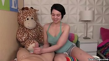 curious teens handjob fun Sprinkle your jizz on my substantial areolas video 5