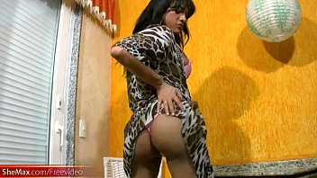 jerking tranny back Amateur couple at play