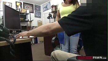 for brunette cum black the sexy wife Teen gives head
