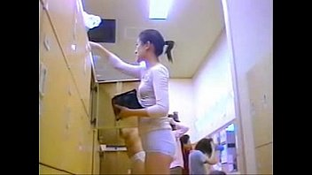 mixed changing room Asian cheating while boyfriend in next room
