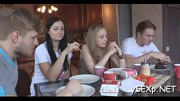 cowok 1 3 vs cewek Naughty teen fucking a daddy on the couch